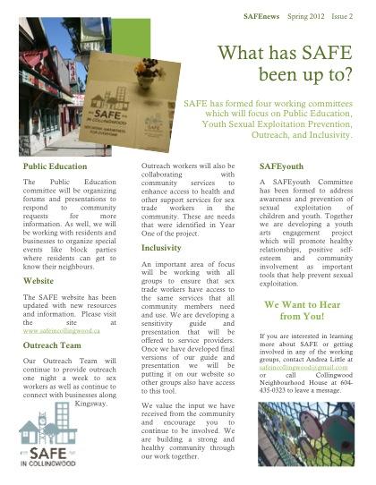 SAFENews Spring 2012 (2)